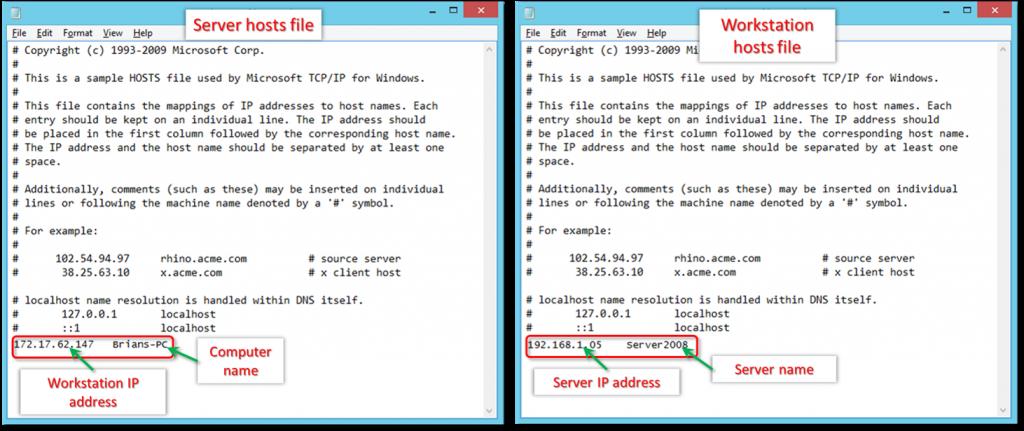 Edit the Windows hosts file in quickbooks - Screenshot