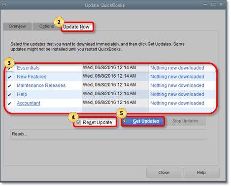 Update QuickBooks Desktop - Screenshot