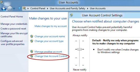 Turn Off User Account Control (UAC) - Screenshot