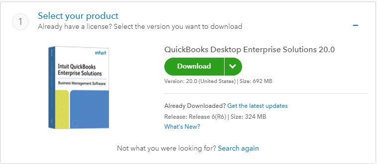 Download QuickBooks enterprise solutions - Screenshot